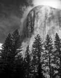 El Capitan Fog B&W Royalty Free Stock Photo