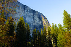 El Capitan and Hosetail Fall in Yosemite National Park in Spring Royalty Free Stock Images