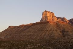 El Capitan i Guadalupe Mountains National Park i Texas Royaltyfri Fotografi