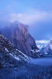 El Capitan i vinter Fotografering för Bildbyråer