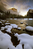 El Capitan In Clearing Winter Royalty Free Stock Photo