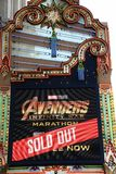 El Capitan marquee for Avengers movie Royalty Free Stock Image