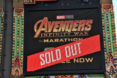 El Capitan marquee for Avengers movie Stock Photos