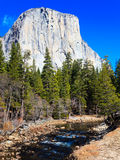 El Capitan and Merced River Royalty Free Stock Image
