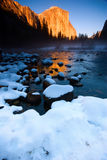El Capitan and Merced river Royalty Free Stock Photo