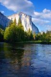 El Capitan and the Merced River. Yosemite's El Capitan from the Merced River Royalty Free Stock Photography