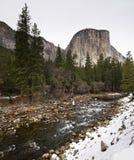 El Capitan and Merced River Yosemite National Park Royalty Free Stock Photos
