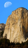 El Capitan And Moon Royalty Free Stock Images