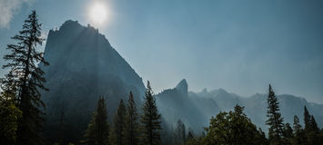 El capitan panorama Yosemite Royalty Free Stock Photography