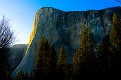 EL Capitan in parco nazionale di Yosemite in primavera Fotografia Stock Libera da Diritti