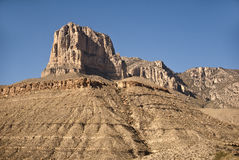El Capitan Peak. At Guadalupe Mountains National Park in West Texas royalty free stock photography