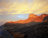 El Capitan at Sunrise. El Capitan, photographed at sunrise, in Guadalupe Mountains National Park located in Texas Stock Photography