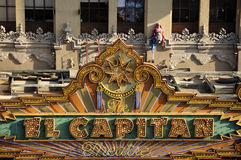 El Capitan Theater Sign royalty free stock image