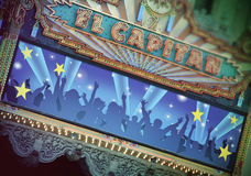 El Capitan Theatre, Hollywood bulwar, Los Angeles obrazy stock