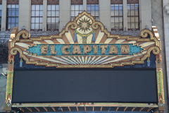 El Capitan Theatre Marquee Detail royalty free stock images