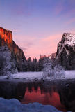 El Capitan in winter Stock Photos