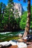 El Capitan, Yosemite National park. El Capitan is a 3,000 foot vertical rock formation in Yosemite Valley and Yosemite National Park. It is one of the most Royalty Free Stock Photography