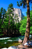 El Capitan, Yosemite National park. El Capitan is a 3,000 foot vertical rock formation in Yosemite Valley and Yosemite National Park. It is one of the most Stock Photo