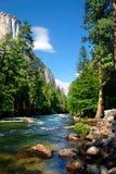 El Capitan, Yosemite National park. El Capitan is a 3,000 foot vertical rock formation in Yosemite Valley and Yosemite National Park. It is one of the most Royalty Free Stock Photo