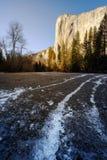 El Capitan, Yosemite nationalpark Arkivfoto