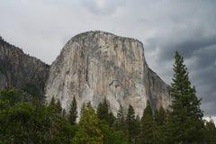 El Capitan from Yosemite valley Stock Photos