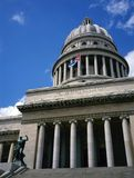 国会大厦大厦,老哈瓦那,古巴 免版税库存图片