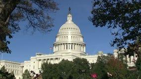 El capitolio de los E.E.U.U. en Washington, DC almacen de metraje de vídeo