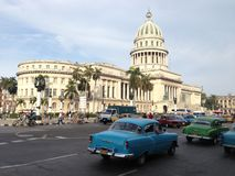 El Capitolio, Havana, Cuba. El Capitolio, or National Capitol Building in Havana, Cuba, was the seat of government in Cuba until after the Cuban Revolution in Royalty Free Stock Images