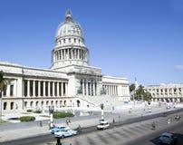 El Capitolio i havannacigarr Arkivbilder