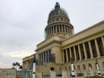 EL Capitolio nell'ambito di rinnovamento Havana Cuba Fotografia Stock