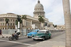 EL Capitolio, o costruzione del Campidoglio nazionale a Avana, Cuba Fotografia Stock Libera da Diritti