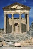 El Capitolium de Dougga Fotos de archivo