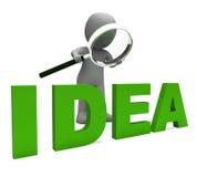 El carácter de las ideas muestra idea y la innovación de los conceptos Imagen de archivo libre de regalías