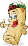 El carácter del Burrito manosea con los dedos para arriba Fotos de archivo