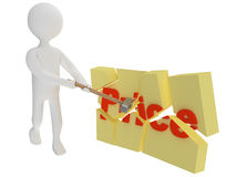 El carácter rompe el precio Imágenes de archivo libres de regalías