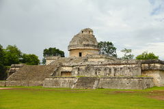 El caracol. Ancient building known as el caracol, as part of the mayan archaeological site of chichenitza, in yucatan, mexico royalty free stock images