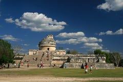 El Caracol/Chichen Itza, Mexico Arkivbilder