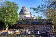 El Caracol in Chichen Itza. Observatory known as El Caracol in Chichen Itza, Mexico Stock Image