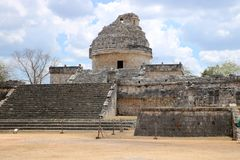 El Caracol, Chichen Itza Royalty Free Stock Photo