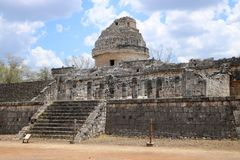 El Caracol, Chichen Itza Stock Photos