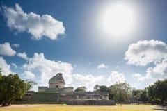 El EL Caracol del observatorio Chichen Itza, México Imagen de archivo libre de regalías