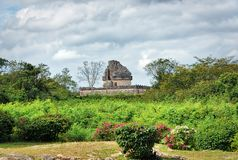 El Caracol an observatory temple,Chichen Itza, Mexico royalty free stock images