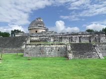 El Caracol observatory temple in Chichen Itza Stock Photography
