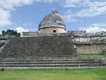El Caracol observatory temple in Chichen Itza Stock Photos