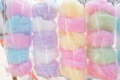 El caramelo de algodón Saimai es caramelo del Tailandés-estilo en Tailandia foto de archivo libre de regalías