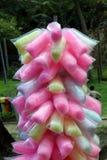El caramelo de algodón, caramelo se hace con el azúcar imagen de archivo libre de regalías