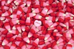 El caramelo de la tarjeta del día de San Valentín Imagenes de archivo