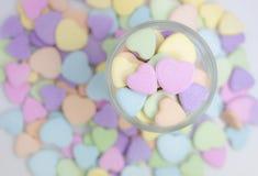 El caramelo del corazón Foto de archivo