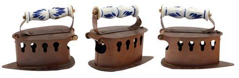 El carbón de leña antiguo viste el hierro Imágenes de archivo libres de regalías
