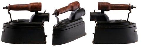 El carbón de leña antiguo viste el hierro Fotos de archivo libres de regalías